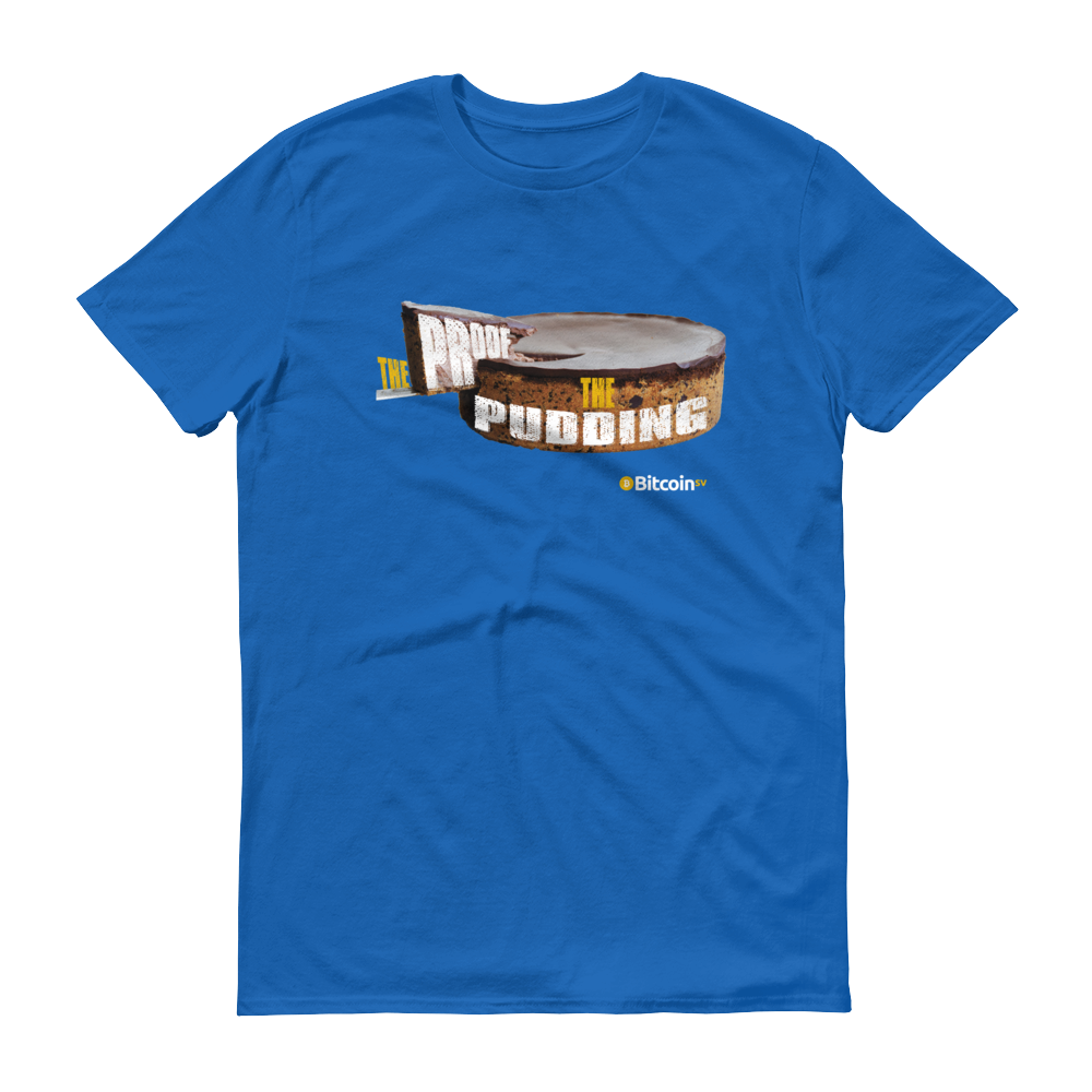 Proof Of Pudding Bitcoin SV Short-Sleeve T-Shirt Royal Blue S - zeroconfs