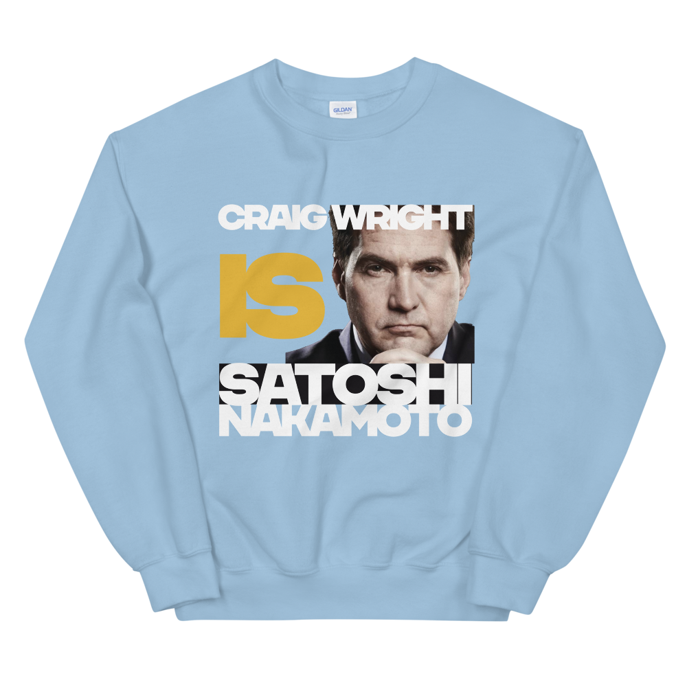 Craig Is Satoshi Sweatshirt Light Blue S - zeroconfs