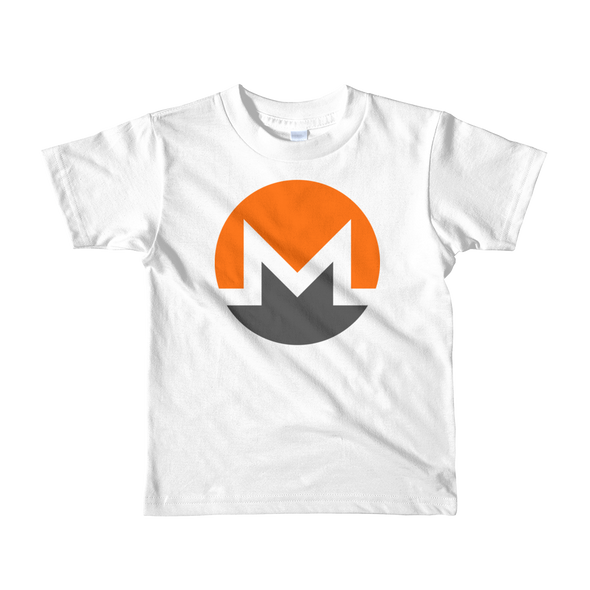 Monero Short Sleeve Kids T-Shirt White 2yrs - zeroconfs