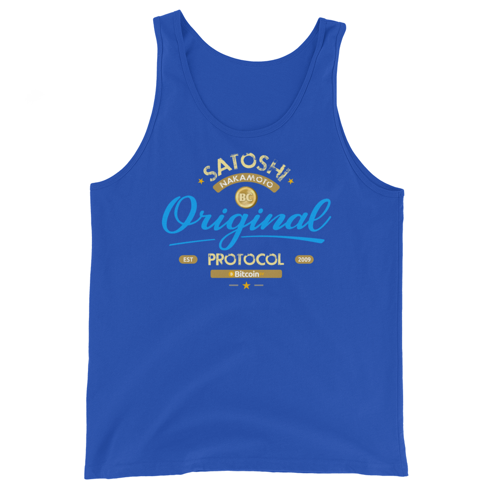 Original Bitcoin Tank Top True Royal XS - zeroconfs