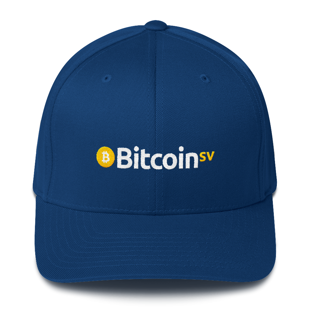Bitcoin SV Flexfit Cap Royal Blue S/M - zeroconfs