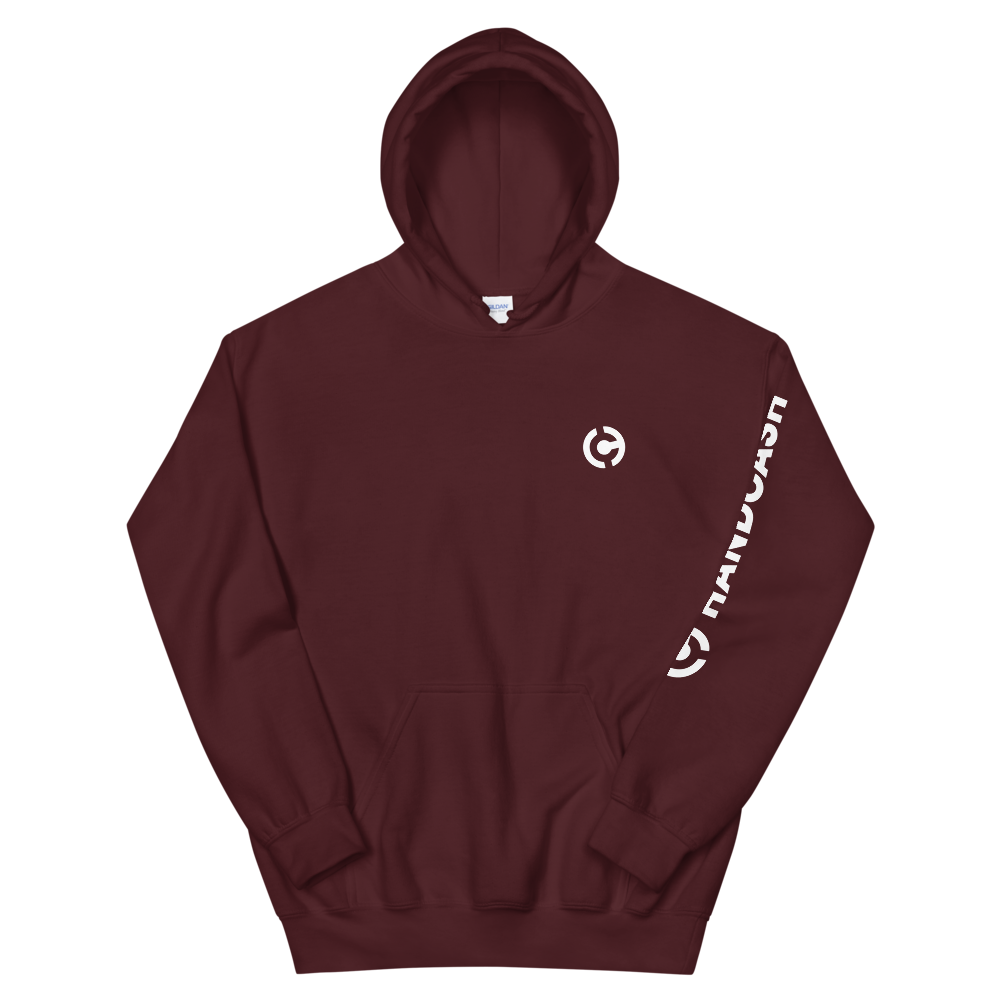 HandCash Official Licensed Hooded Sweatshirt Maroon S - zeroconfs