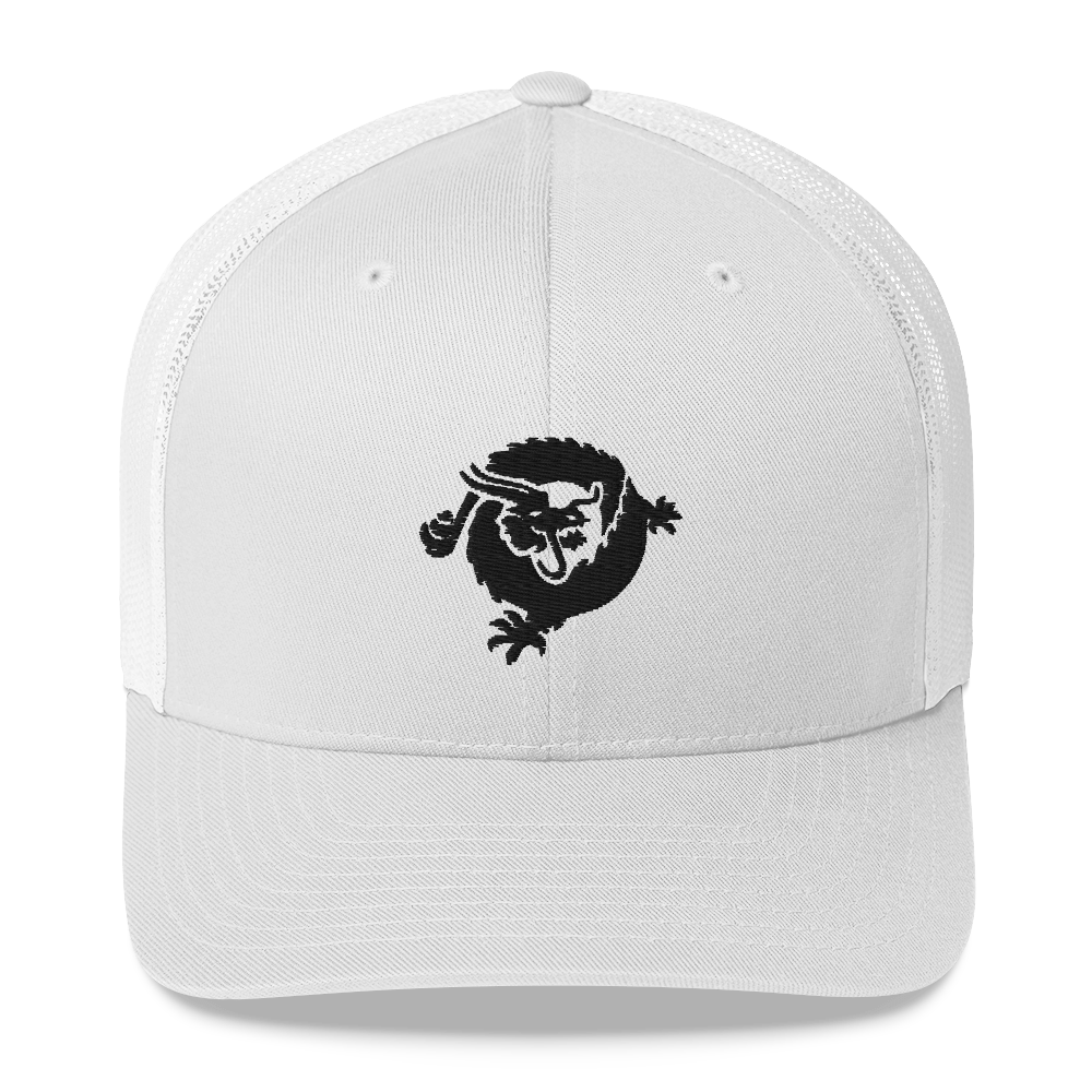 Bitcoin SV Dragon Trucker Cap Black White  - zeroconfs