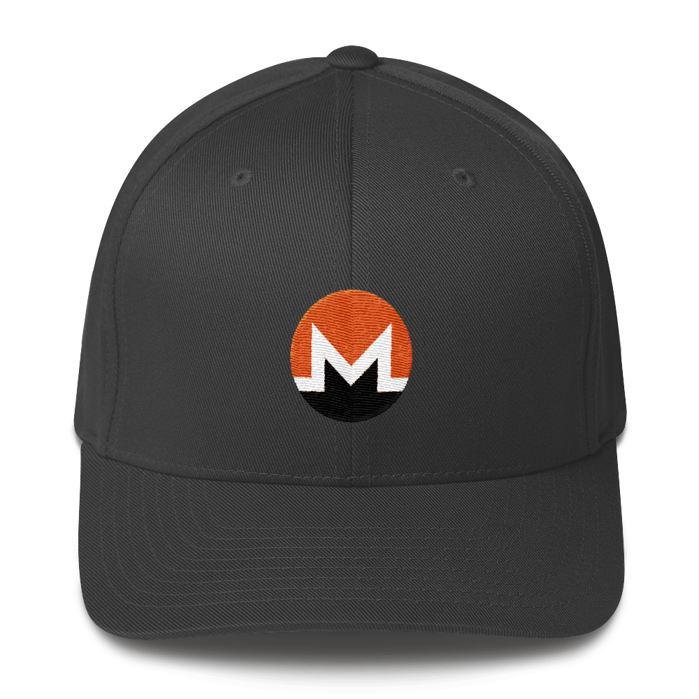 Monero Flexfit Cap Dark Grey S/M - zeroconfs