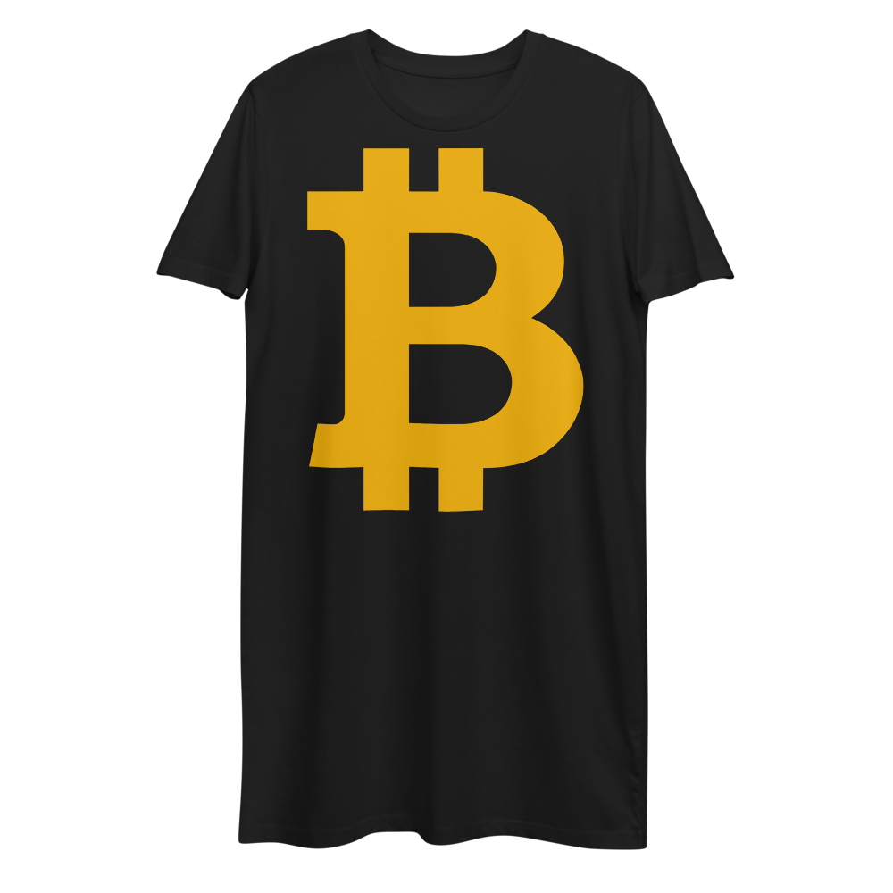 Bitcoin B Premium T-Shirt Dress Black XS - zeroconfs