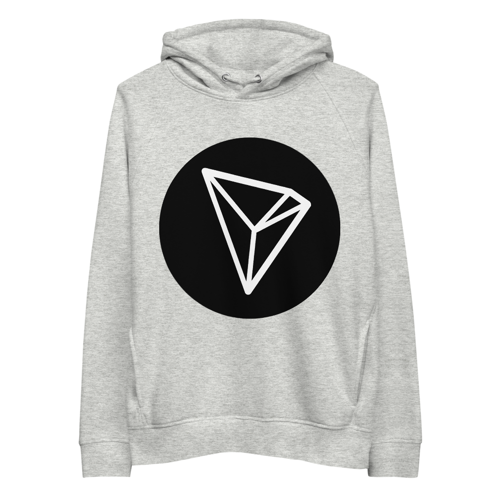Tron Premium Eco Hoodie Heather Grey S - zeroconfs