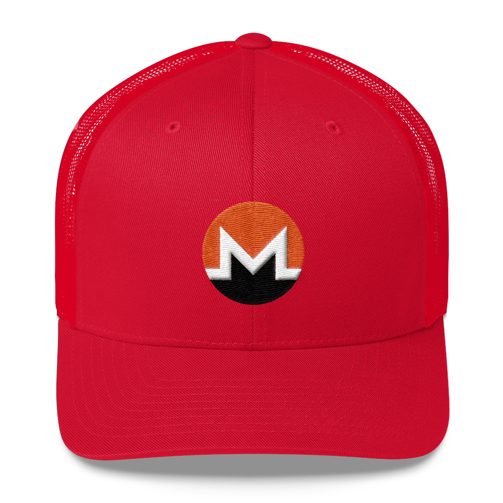 Monero Trucker Cap Red  - zeroconfs
