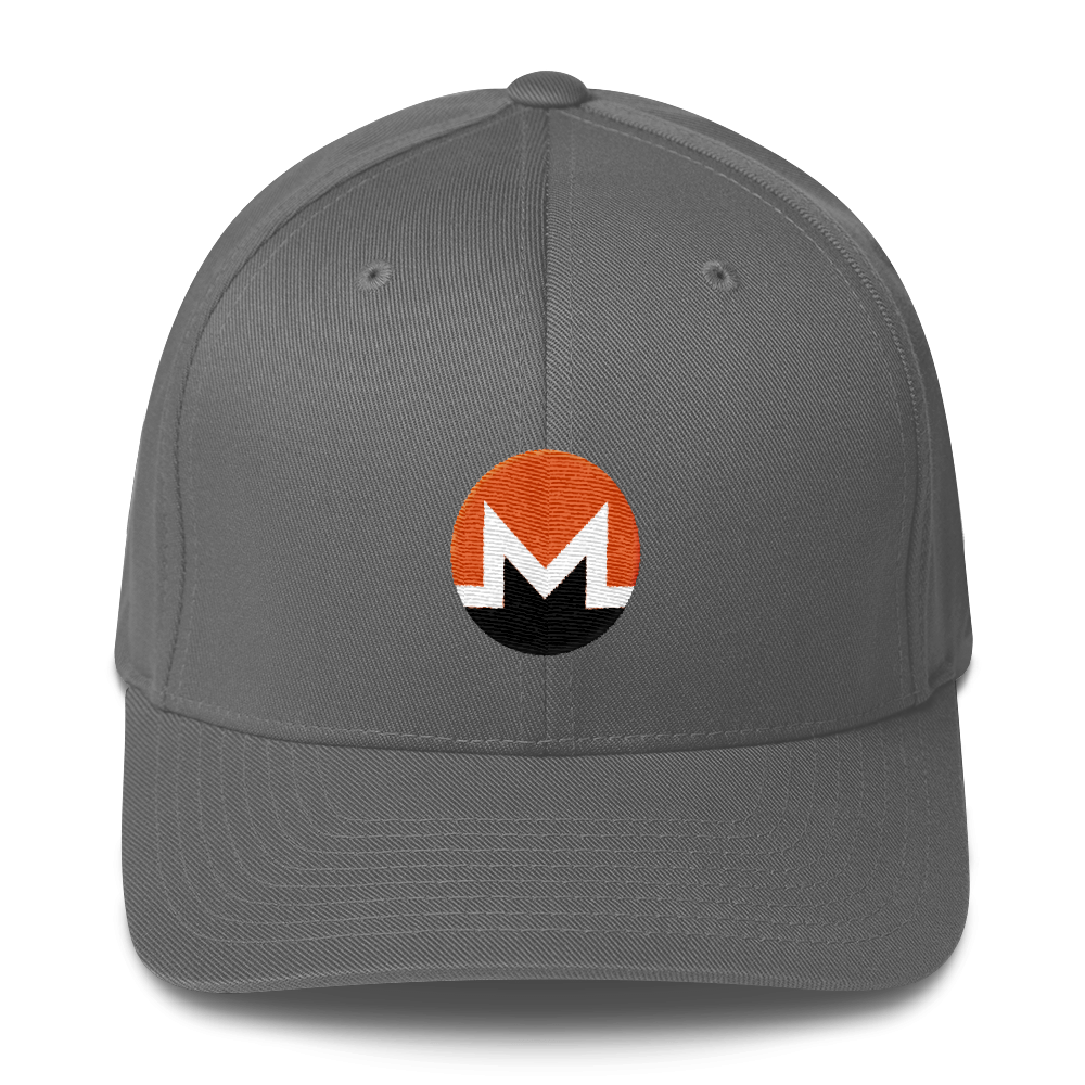 Monero Flexfit Cap Grey S/M - zeroconfs