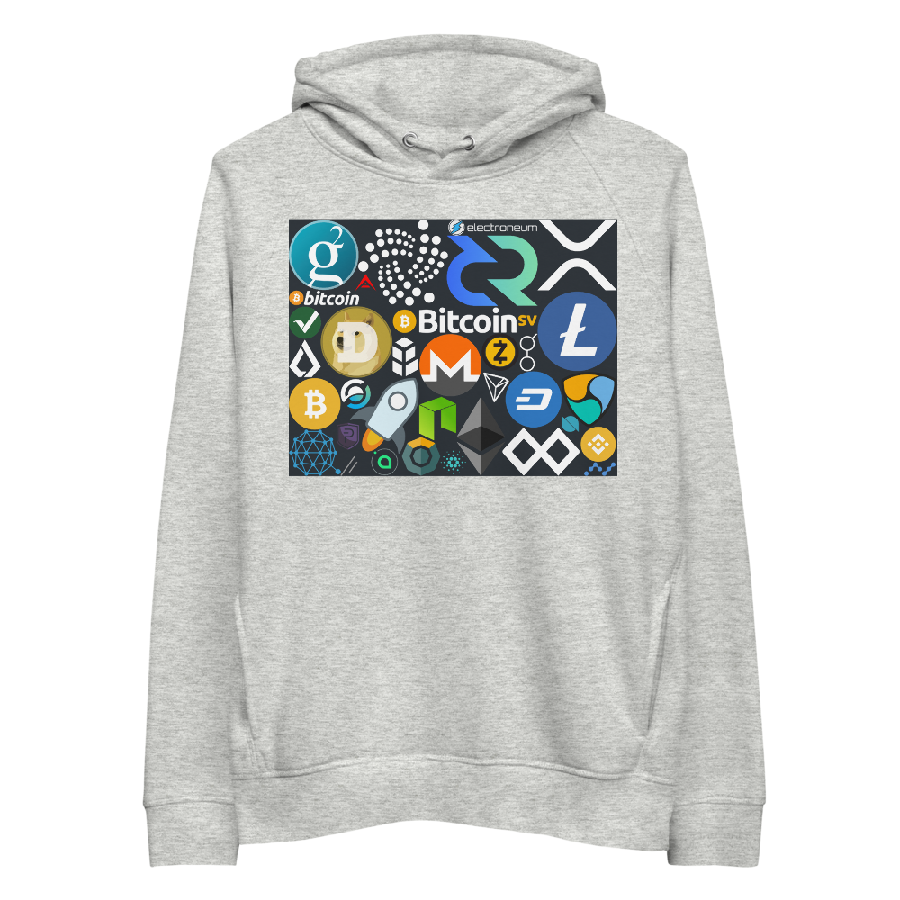 Crypto Calling Premium Eco Hoodie Heather Grey S - zeroconfs