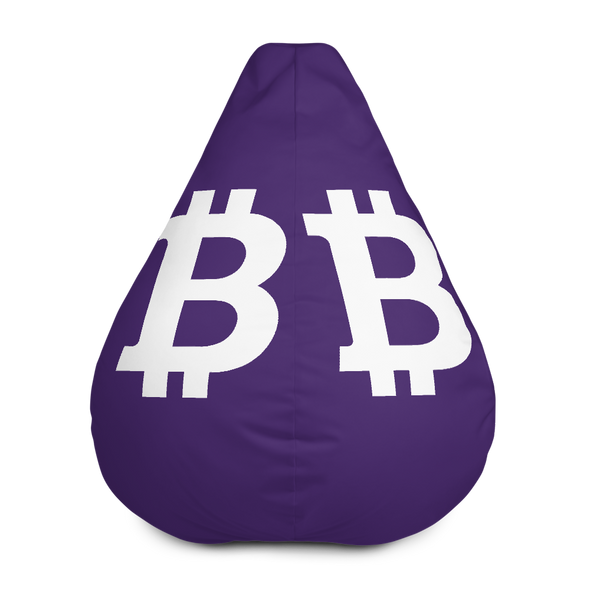 Bitcoin SV Purple Bean Bag Cover Only Default Title  - zeroconfs