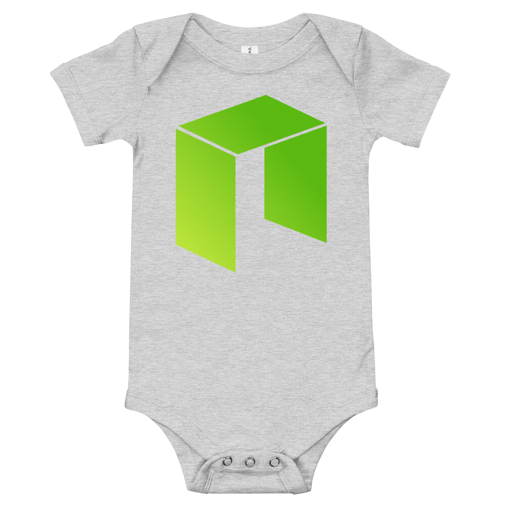 NEO Baby Bodysuit Athletic Heather 3-6m - zeroconfs