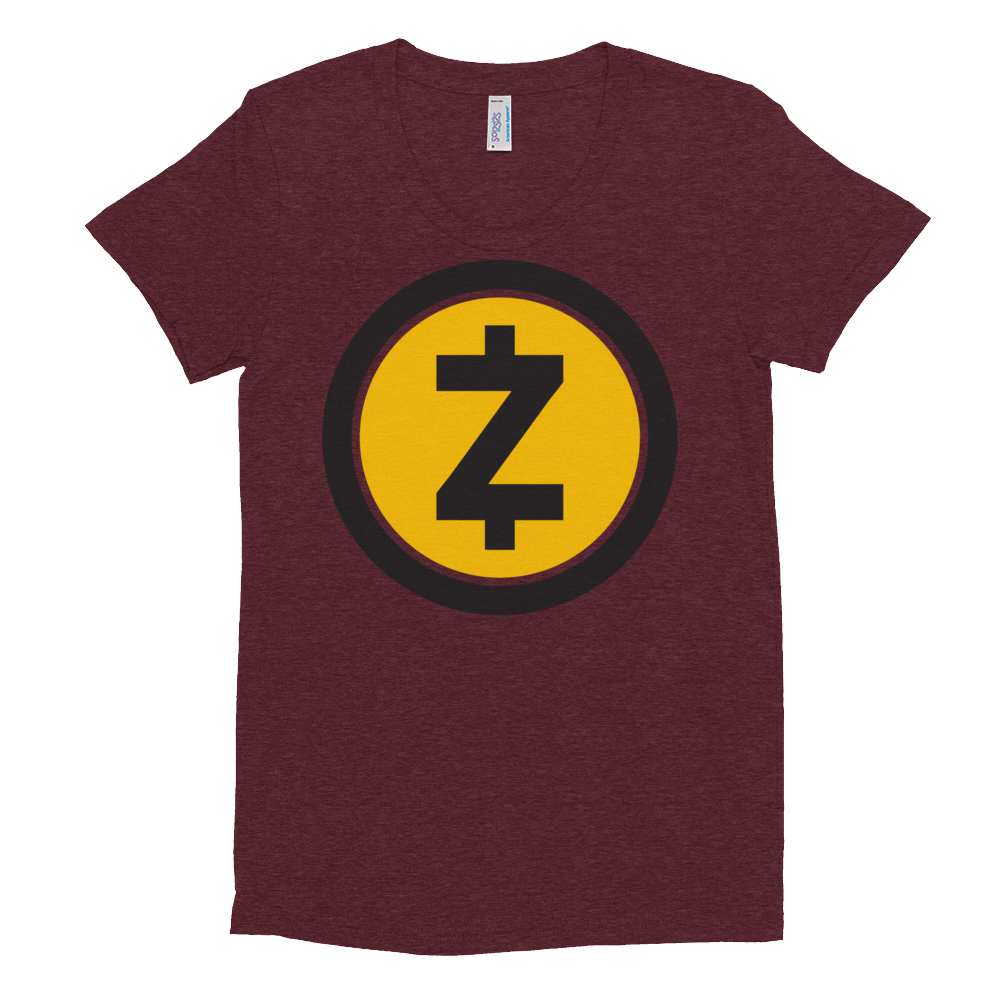 Zcash Women's Crew Neck T-Shirt Tri-Cranberry S - zeroconfs