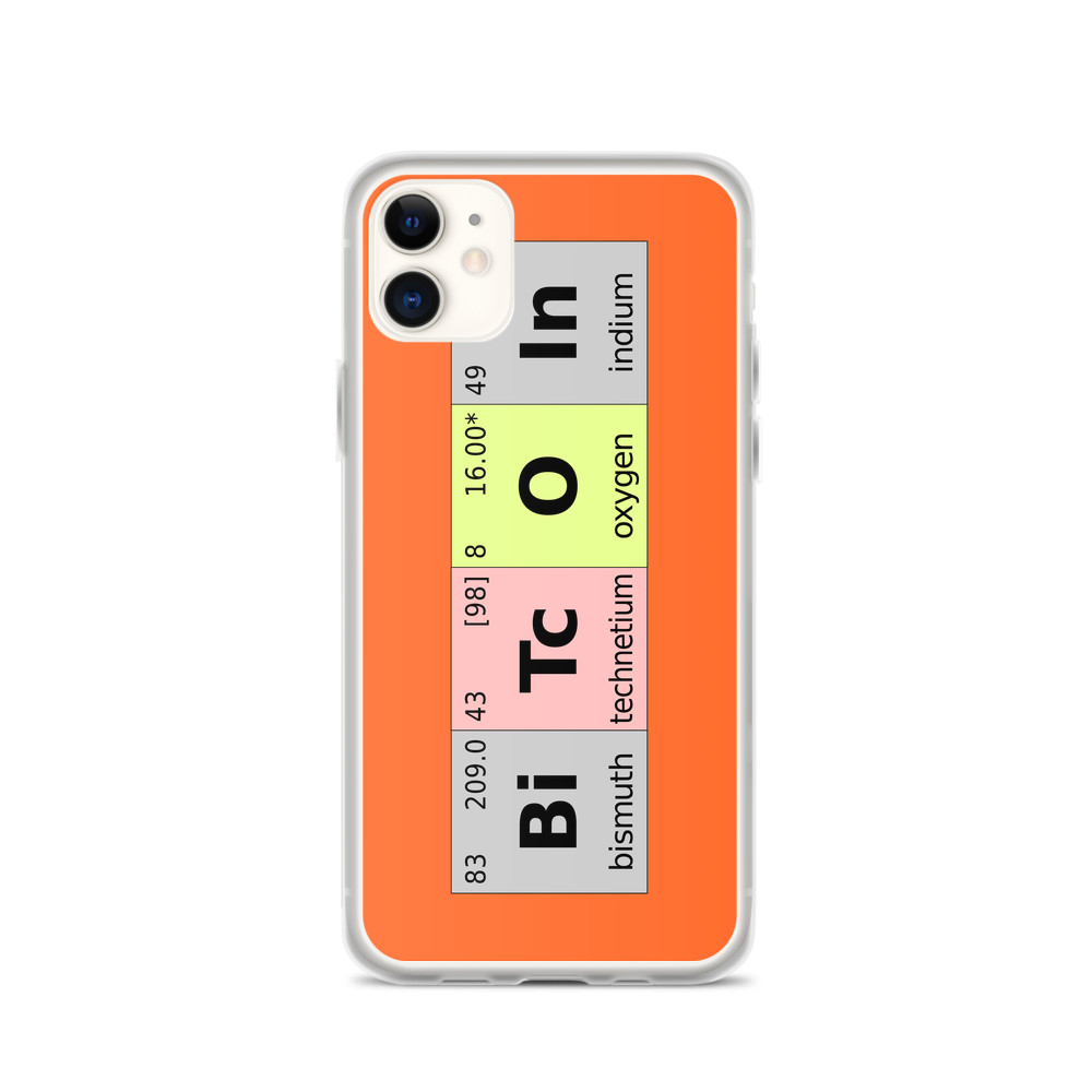 Bitcoin Periodic Table iPhone Case iPhone 11  - zeroconfs