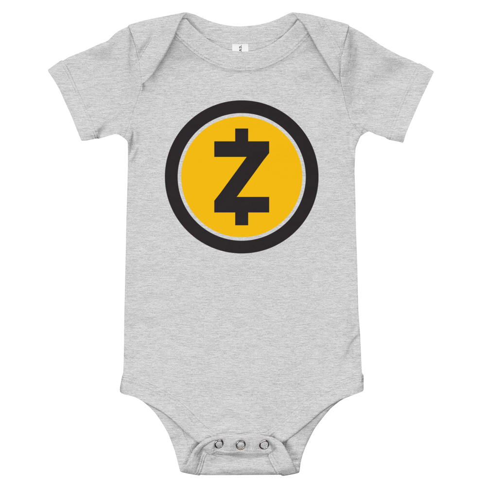 Zcash Baby Bodysuit Athletic Heather 3-6m - zeroconfs