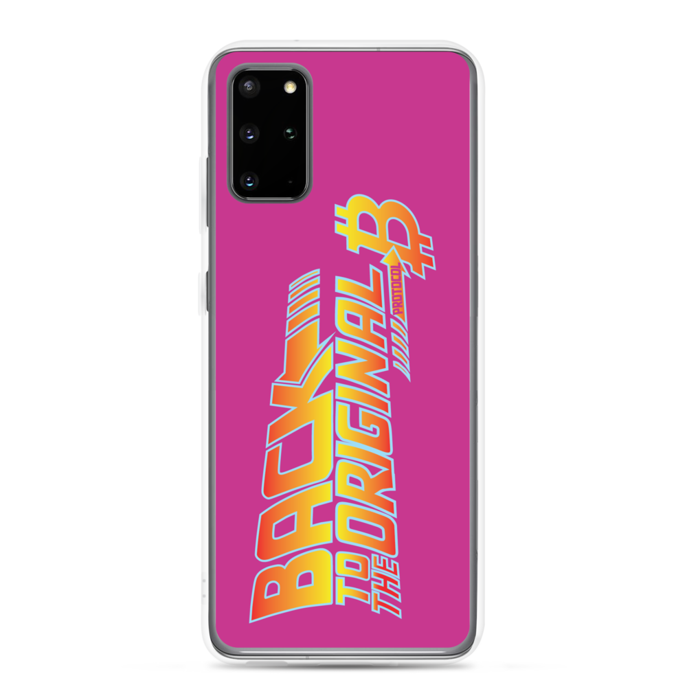 Back To The Original Bitcoin Protocol Samsung Case Pink Samsung Galaxy S20 Plus  - zeroconfs