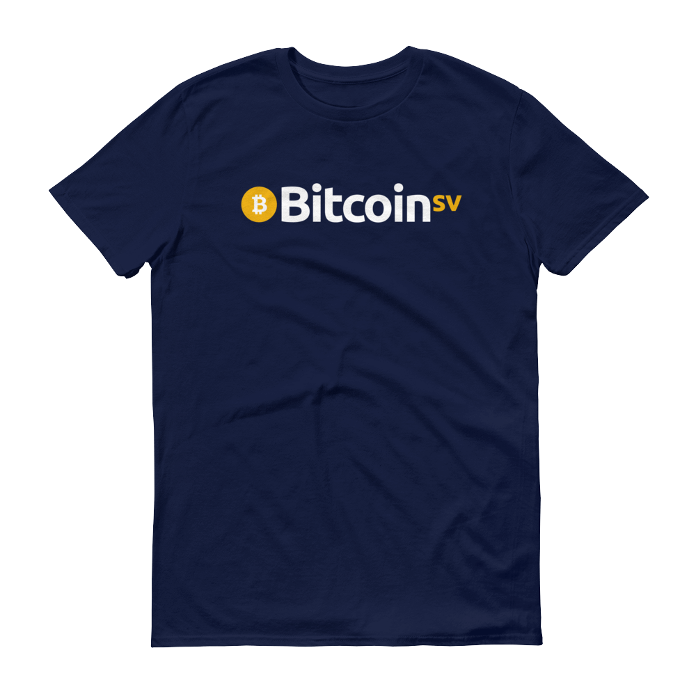Bitcoin SV Short-Sleeve T-Shirt Navy S - zeroconfs