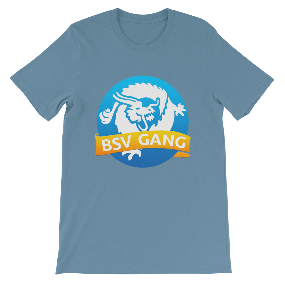 Bitcoin SV Gang Short-Sleeve T-Shirt Steel Blue S - zeroconfs