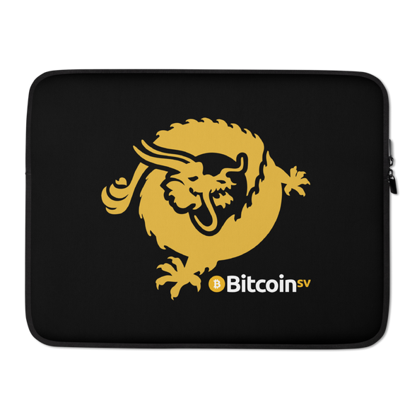 Bitcoin SV Dragon Laptop Sleeve 15 in  - zeroconfs