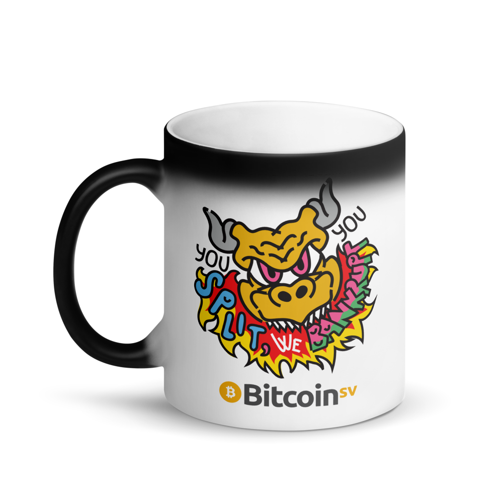 You Split Bitcoin SV Magic Mug   - zeroconfs