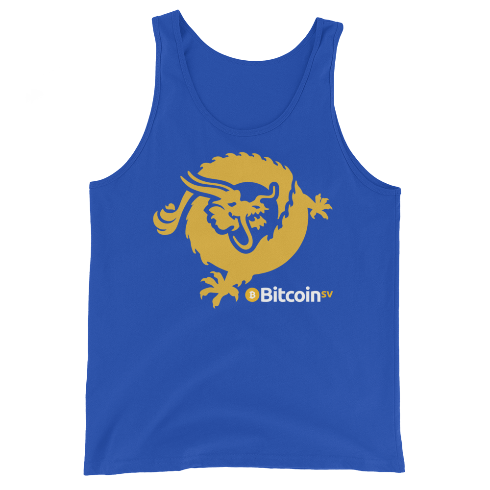 Bitcoin SV Dragon Tank Top True Royal XS - zeroconfs