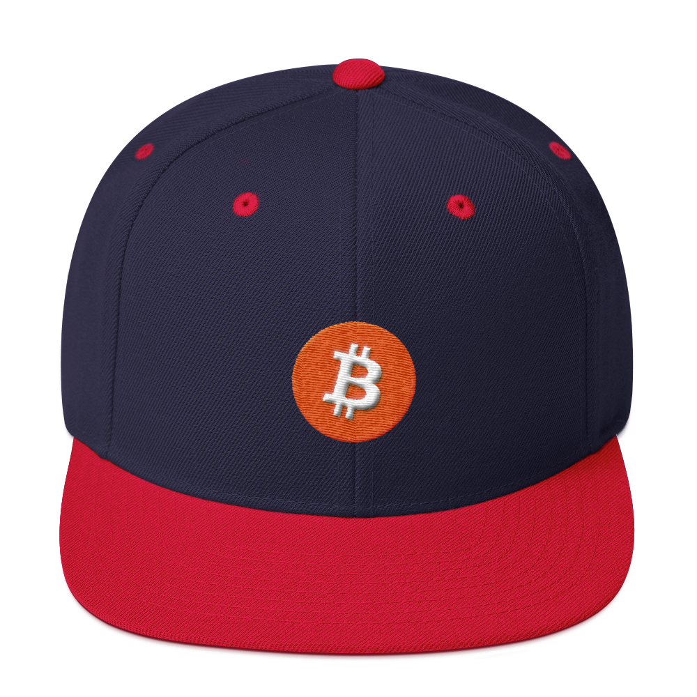 Bitcoin Core Snapback Hat Navy/ Red  - zeroconfs