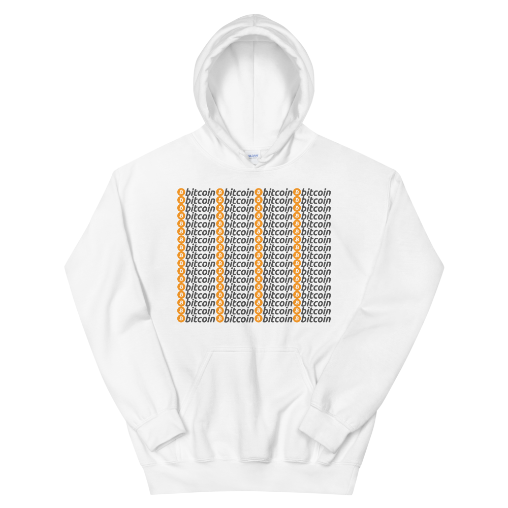 Bitcoins Hooded Sweatshirt White S - zeroconfs