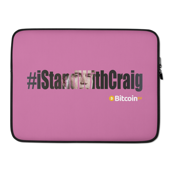 #IStandWithCraig Bitcoin SV Laptop Sleeve Pink 15 in  - zeroconfs