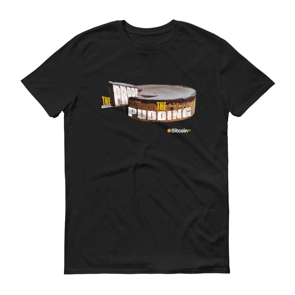 Proof Of Pudding Bitcoin SV Short-Sleeve T-Shirt Black S - zeroconfs