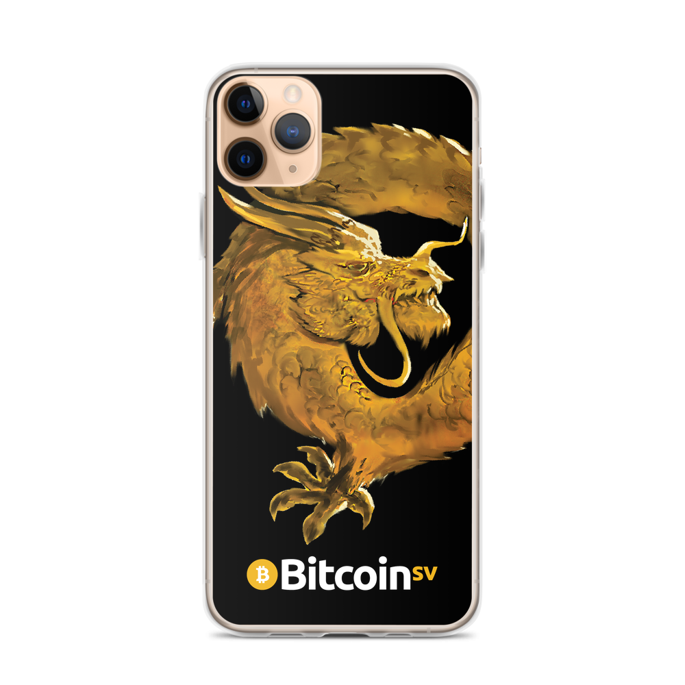 Bitcoin SV Woken Dragon iPhone Case Black iPhone 11 Pro Max  - zeroconfs