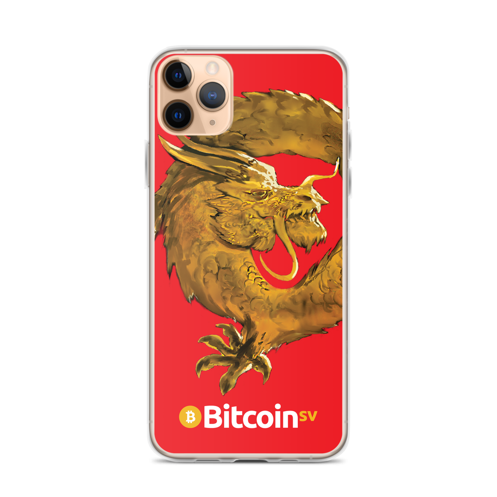 Bitcoin SV Woken Dragon iPhone Case Red iPhone 11 Pro Max  - zeroconfs