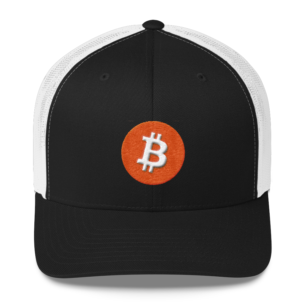 Bitcoin Core Trucker Cap Black/ White  - zeroconfs