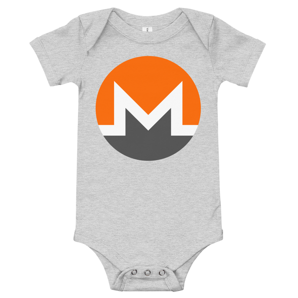 Monero Baby Bodysuit Athletic Heather 3-6m - zeroconfs