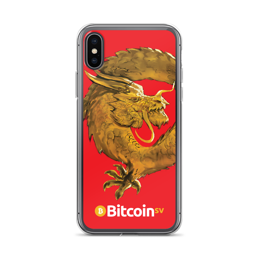 Bitcoin SV Woken Dragon iPhone Case Red iPhone X/XS  - zeroconfs