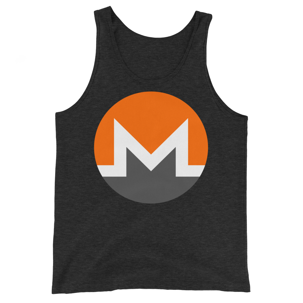 Monero Tank Top Charcoal-Black Triblend XS - zeroconfs