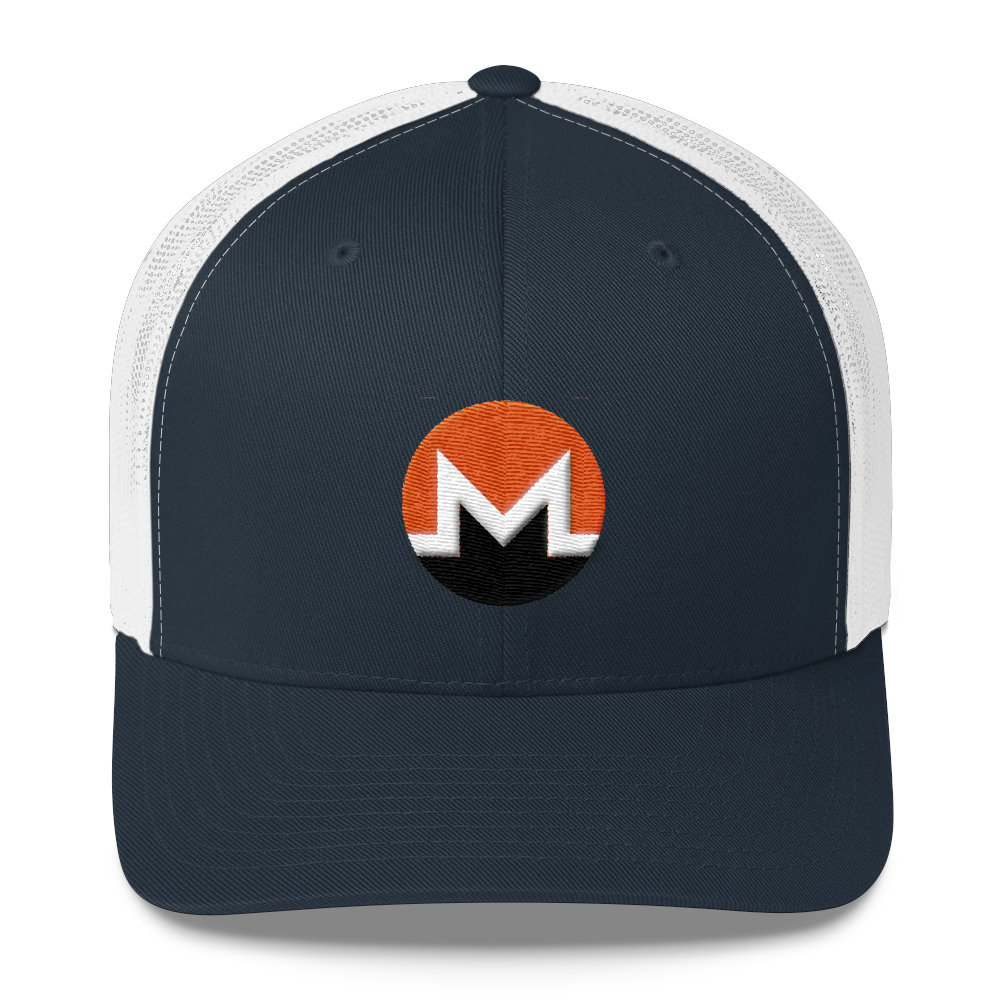 Monero Trucker Cap Navy/ White  - zeroconfs