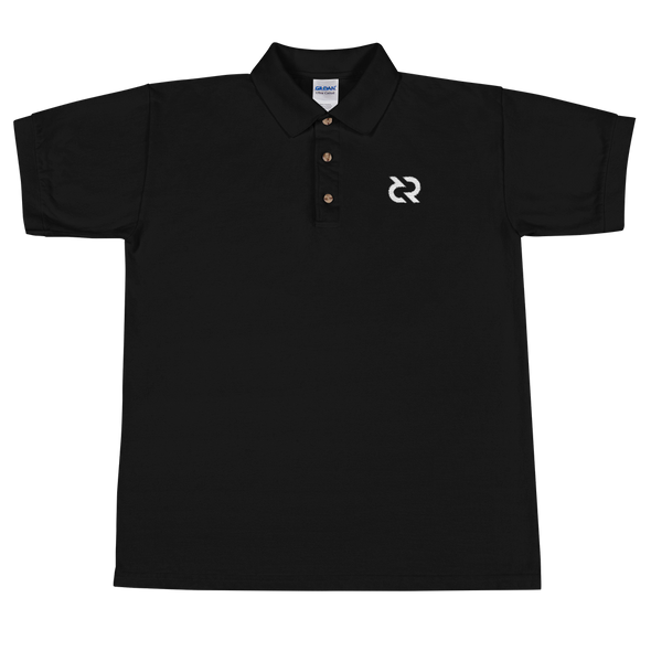 Decred Embroidered Polo Shirt Black S - zeroconfs