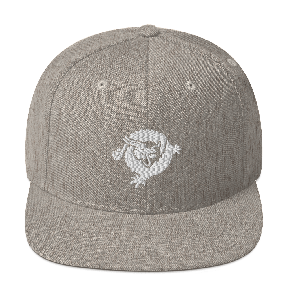 Bitcoin SV Dragon Snapback Hat White Heather Grey  - zeroconfs