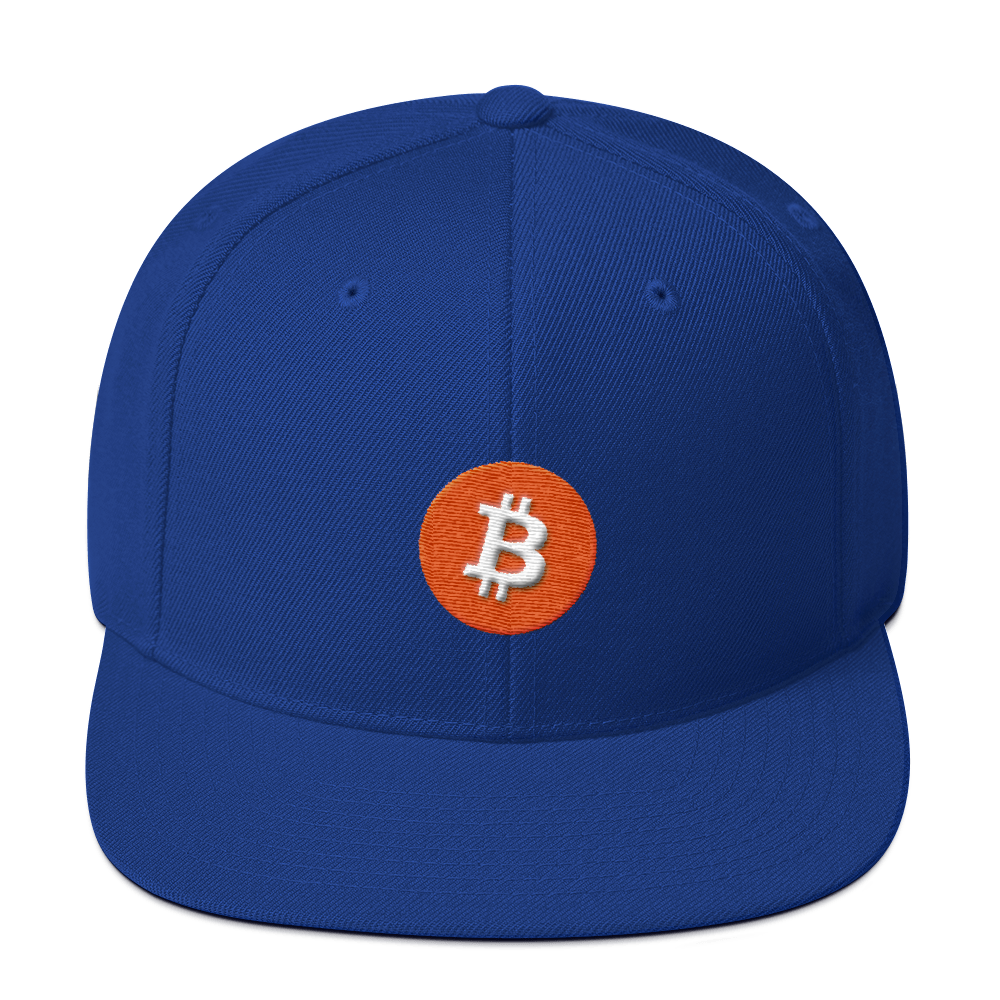Bitcoin Core Snapback Hat Royal Blue  - zeroconfs