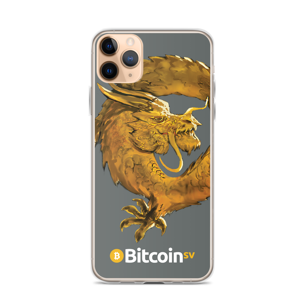 Bitcoin SV Woken Dragon iPhone Case Gray iPhone 11 Pro Max  - zeroconfs