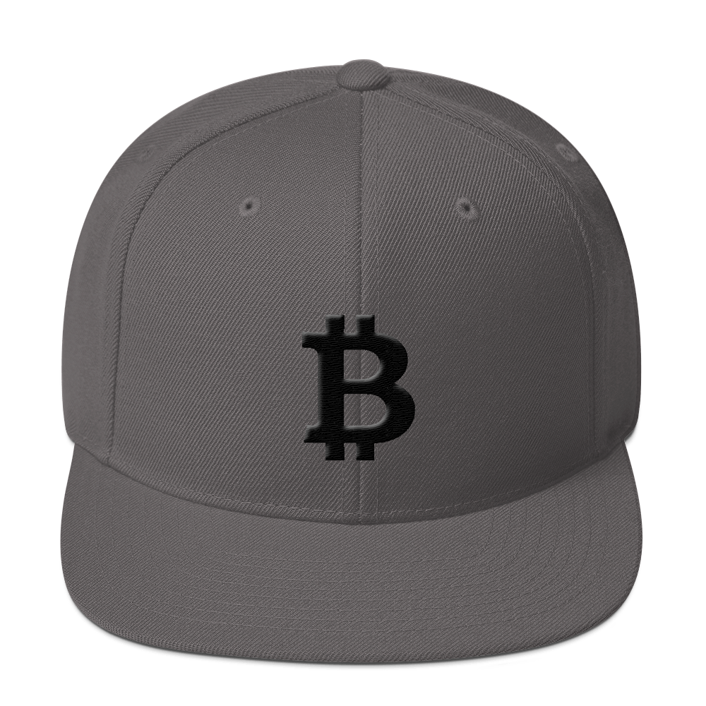 Bitcoin Blacknet SE Snapback Hat Dark Grey  - zeroconfs