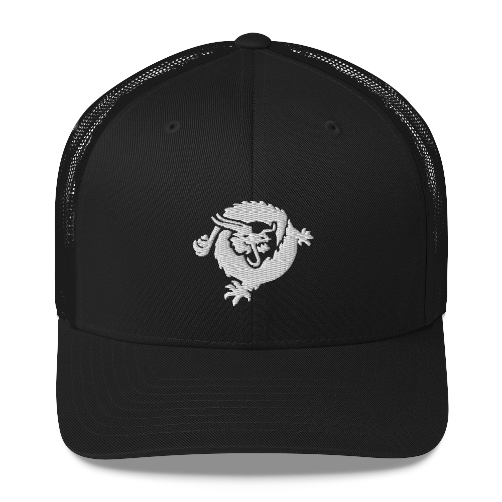 Bitcoin SV Dragon Trucker Cap White Black  - zeroconfs