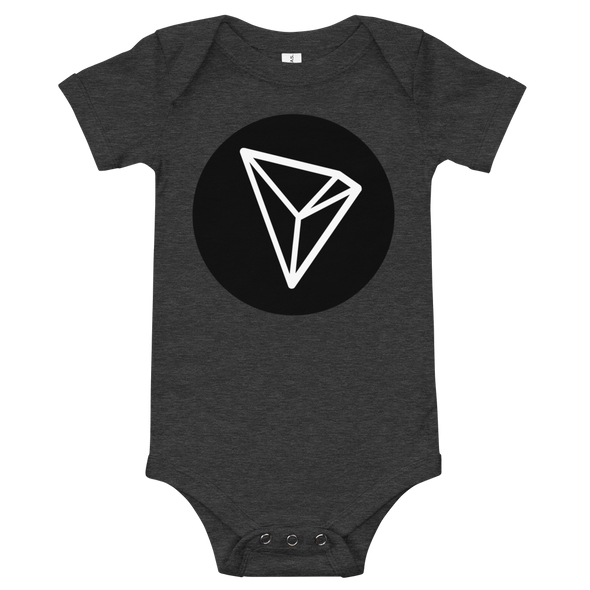 Tron Baby Bodysuit Dark Grey Heather 3-6m - zeroconfs