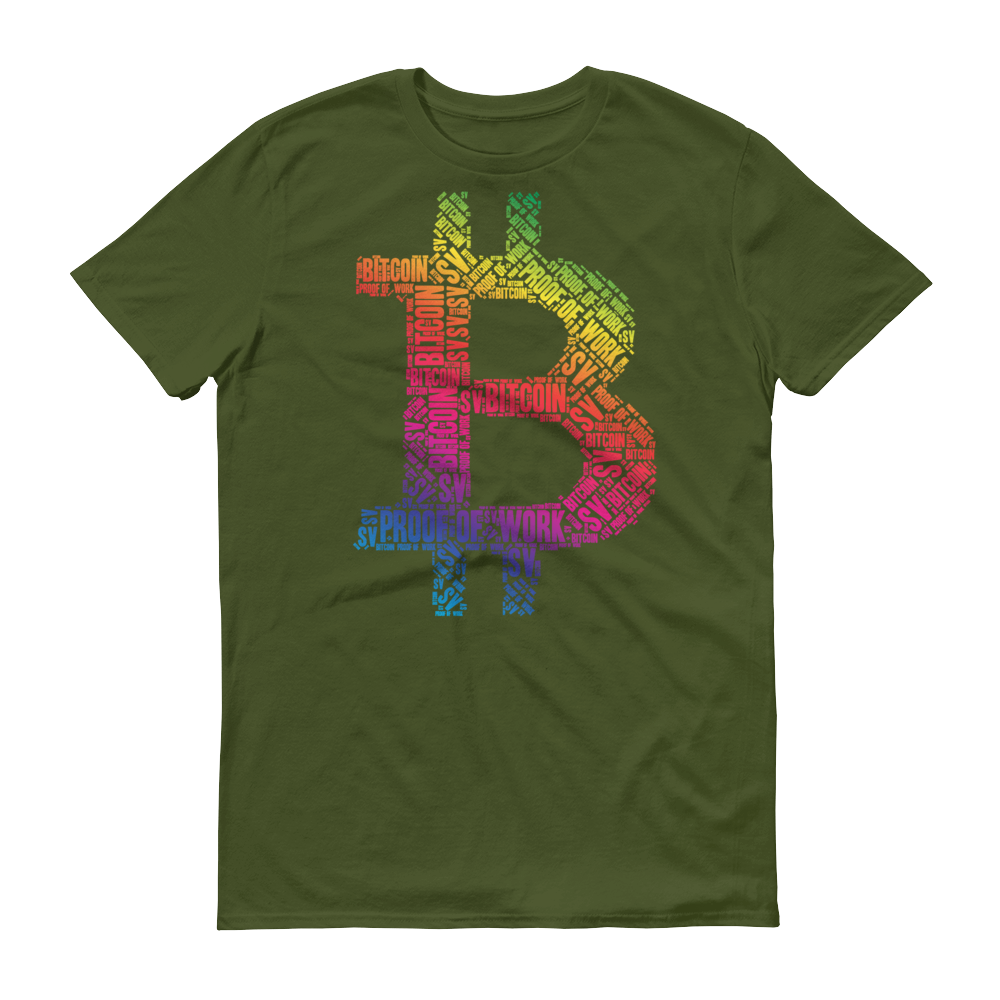 Bitcoin SV Proof Of Work Short-Sleeve T-Shirt City Green S - zeroconfs