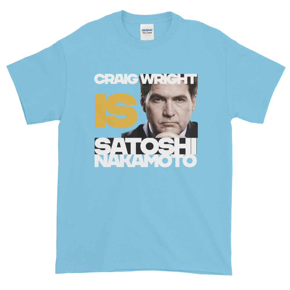 Craig Is Satoshi Short-Sleeve T-Shirt Plus Size Sky XL - zeroconfs