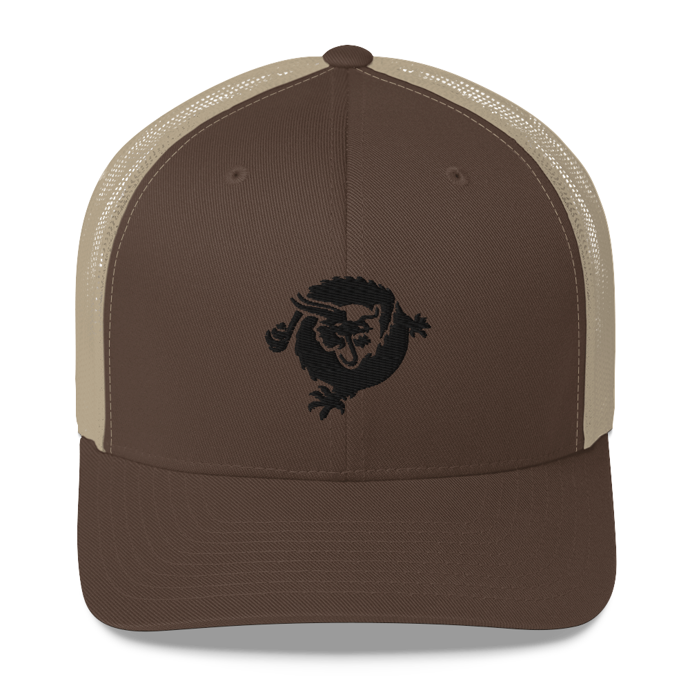 Bitcoin SV Dragon Trucker Cap Black Brown/ Khaki  - zeroconfs