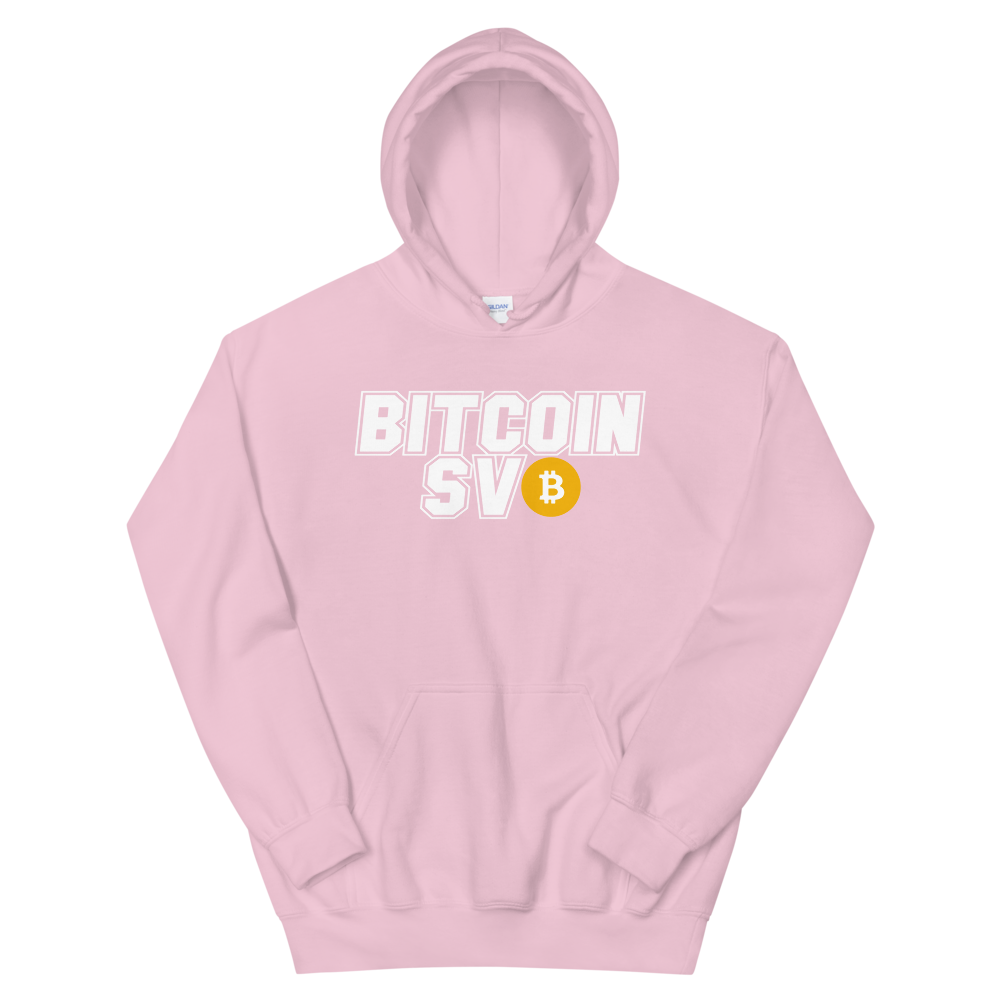 Bitcoin SV Sports Hooded Sweatshirt Light Pink S - zeroconfs