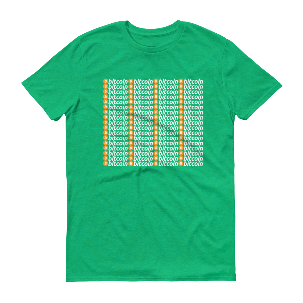 Bitcoins Short-Sleeve T-Shirt Heather Green S - zeroconfs