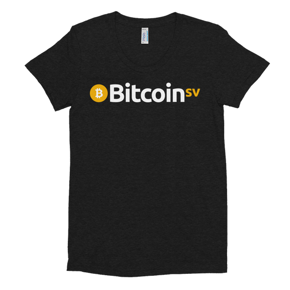 Bitcoin SV Women's Crew Neck T-shirt Tri-Black S - zeroconfs