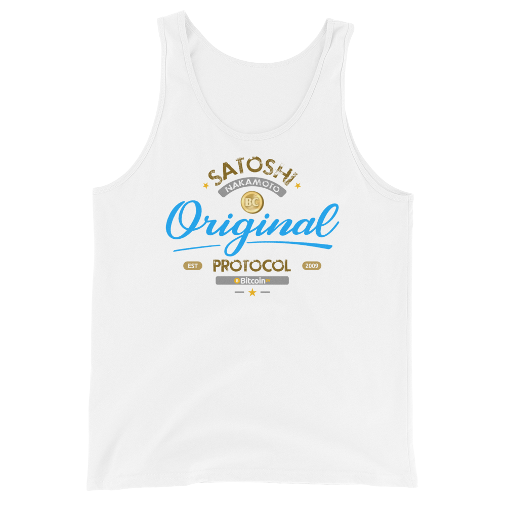 Original Bitcoin Tank Top White XS - zeroconfs