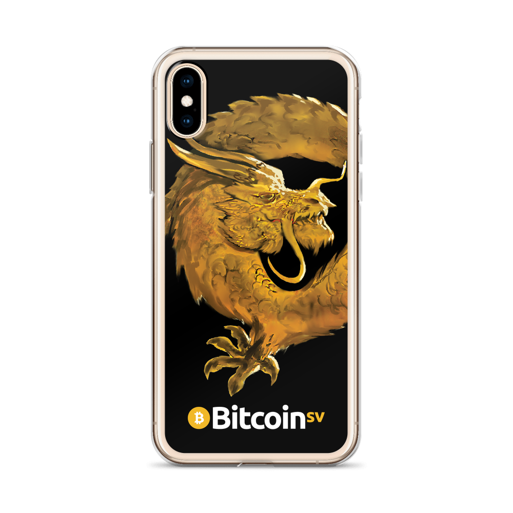 Bitcoin SV Woken Dragon iPhone Case Black   - zeroconfs